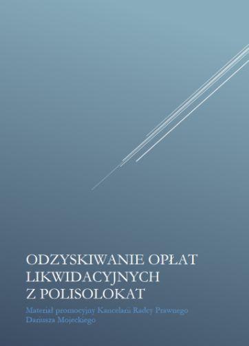 e-book Darmowy ebook: Odzyskiwanie opłat likwidacyjnych z polisolokat.